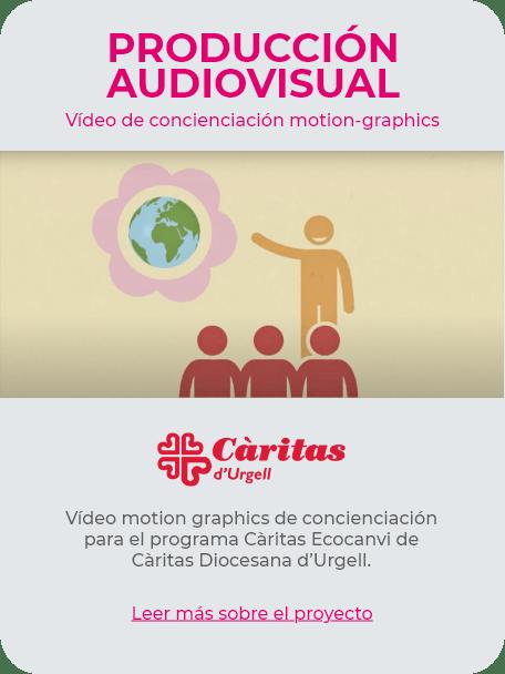 Vídeo Motion Graphics Càritas Ecocanvi