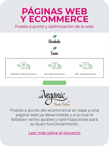 Optimización web Cal Vegànic